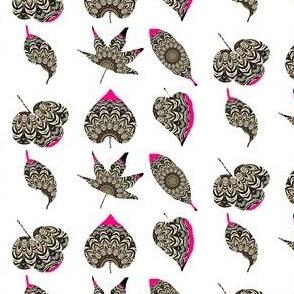 Zesty Zebra Z-Leaves 3 - With Pink Zing