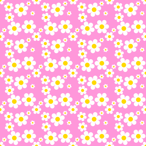 Sweetie Pie Daisy - Pink fabric by shelleymade on Spoonflower - custom fabric