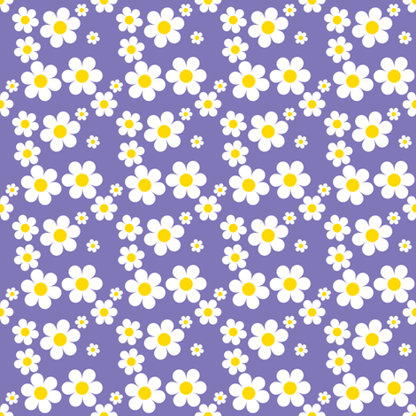 Sweetie Pie Daisy - Purple fabric by shelleymade on Spoonflower - custom fabric