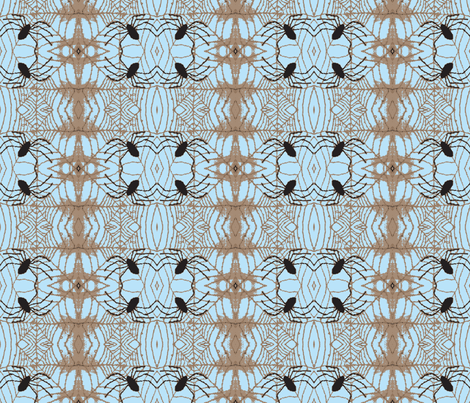 Spider Weave sky fabric by bymarie on Spoonflower - custom fabric