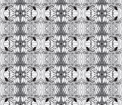 Spider Weave b&w fabric by bymarie on Spoonflower - custom fabric