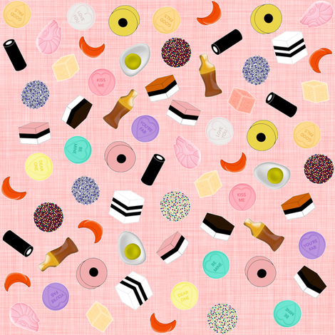 Pocket Money Yummies fabric by glanoramay on Spoonflower - custom fabric