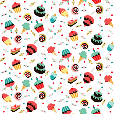Sweets fabric by theboutiquestudio on Spoonflower - custom fabric