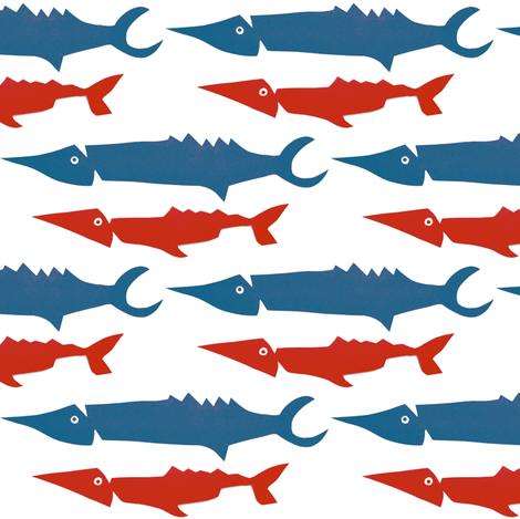 Sturgeon fabric by boris_thumbkin on Spoonflower - custom fabric