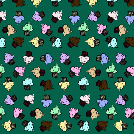 Tumbling Cupcakes fabric by pond_ripple on Spoonflower - custom fabric