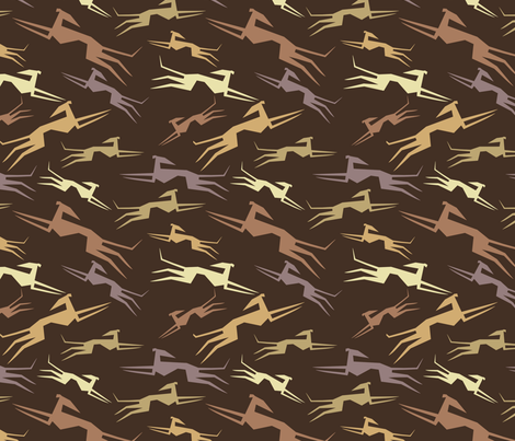Sighthounds in brown fabric by lobitos on Spoonflower - custom fabric