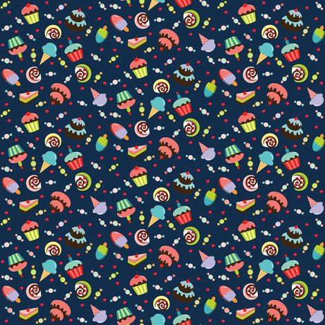 Life is Sweet fabric by theboutiquestudio on Spoonflower - custom fabric
