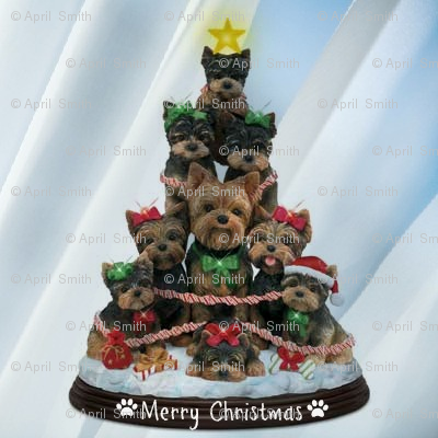 Yorkie Christmas Tree