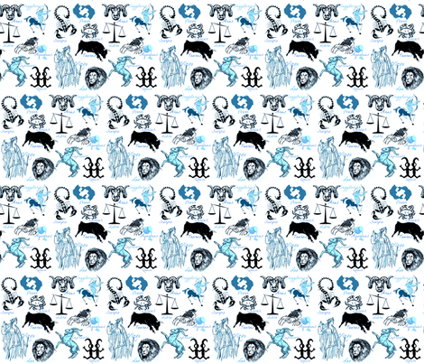 ZODIAK SIGNS fabric by bluevelvet on Spoonflower - custom fabric