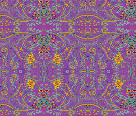 eppleyanna, purple fabric by hooeybatiks on Spoonflower - custom fabric