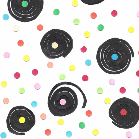 liquorice and confetti fabric by mariao on Spoonflower - custom fabric