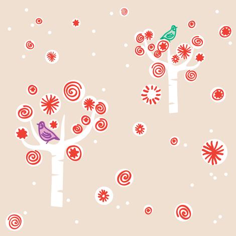Partridge In A Peppermint Tree fabric by spoonnan on Spoonflower - custom fabric