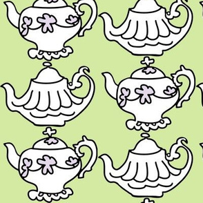 Teapots for Teatime Sweets (lime &amp; lavender)