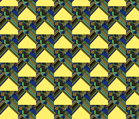 Yellow Tents by Blue Water fabric by anniedeb on Spoonflower - custom fabric