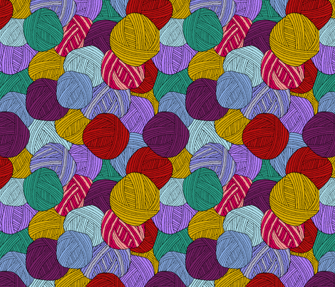 yarnballs fabric by loopy_canadian on Spoonflower - custom fabric