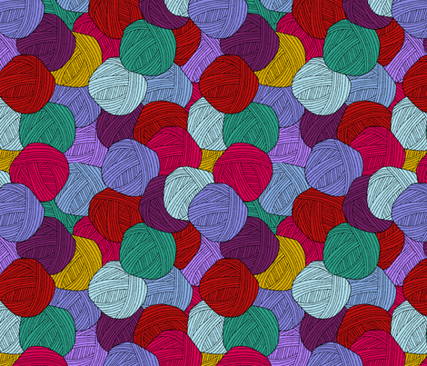 yarnballs fabric by blondfish on Spoonflower - custom fabric
