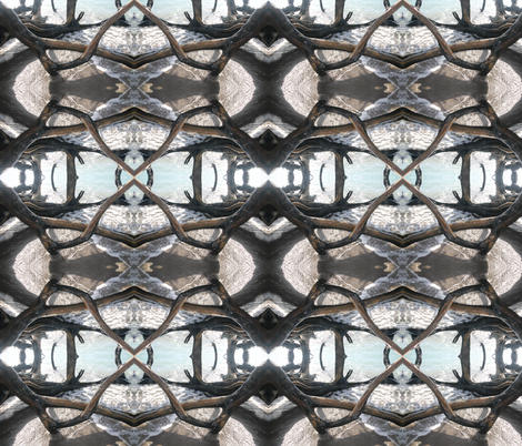 Deep Windows fabric by pog_hog on Spoonflower - custom fabric