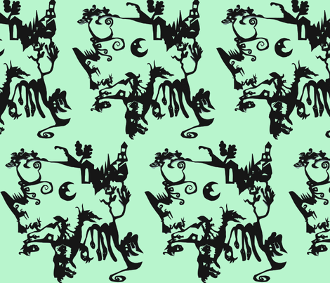 Villa Overlooking Scylla & Charybdis fabric by boris_thumbkin on Spoonflower - custom fabric
