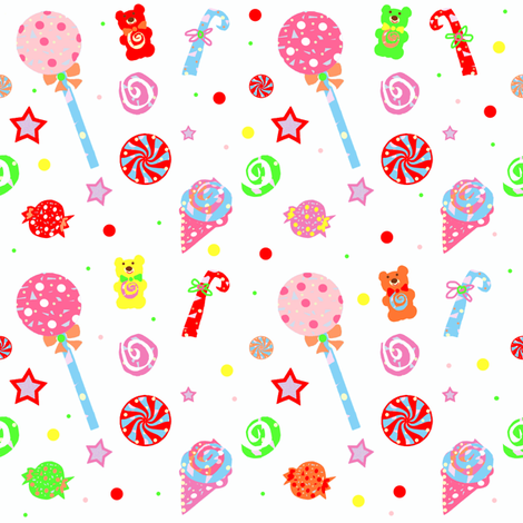 Kid in a Candy Shop fabric by arttreedesigns on Spoonflower - custom fabric