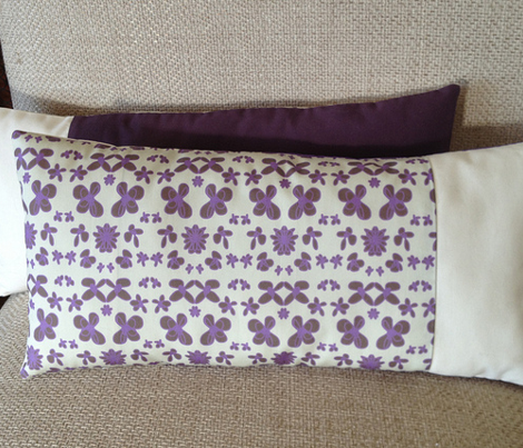 Purple and ivory floral