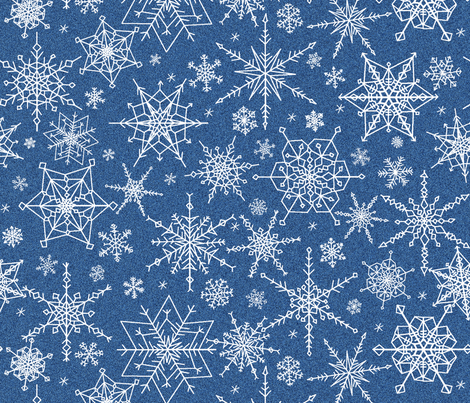 Snowflakes midst the blizzard fabric by victorialasher on Spoonflower - custom fabric