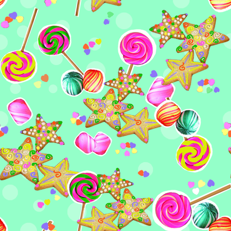 candy fabric by riztyd on Spoonflower - custom fabric