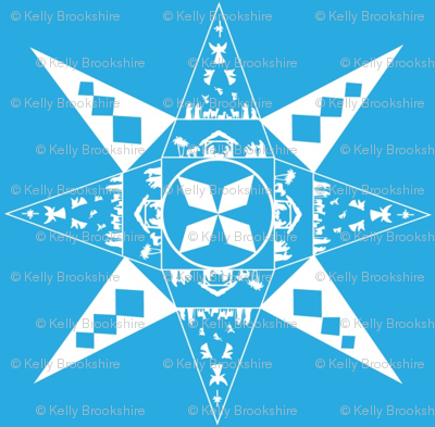 Nativity Snowflake blue