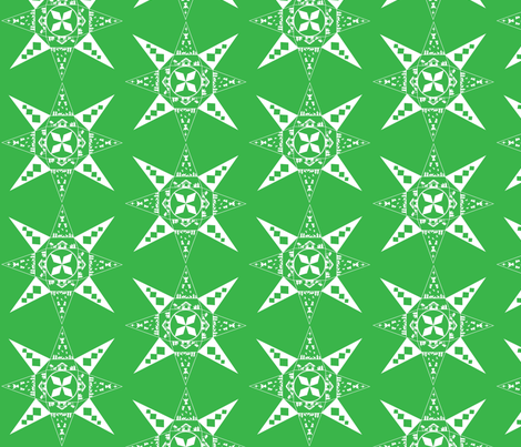 Nativity snowflake green fabric by kfrogb on Spoonflower - custom fabric