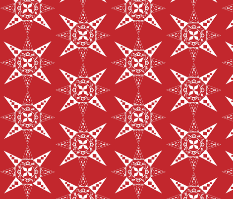 Nativity Snowflake red fabric by kfrogb on Spoonflower - custom fabric