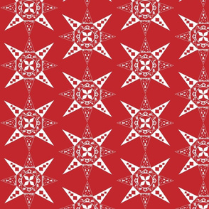Nativity Snowflake red