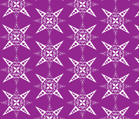 nativity snowflake purple fabric by kfrogb on Spoonflower - custom fabric