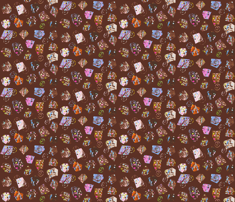 choc_marble fabric by stella12 on Spoonflower - custom fabric