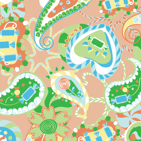 Paisley Sweets fabric by laurarae on Spoonflower - custom fabric