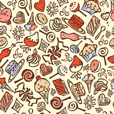 Mon Bon-Bon fabric by karistyle on Spoonflower - custom fabric