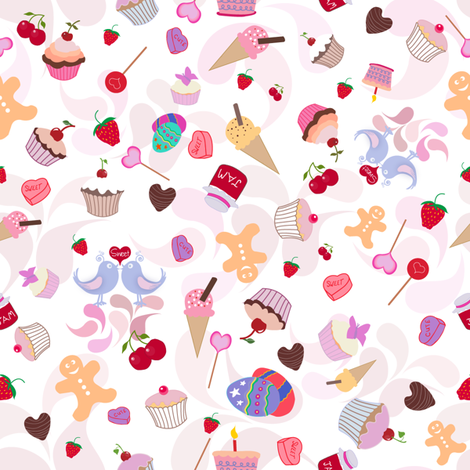 sweet_things_export fabric by raining_cats_&_dogs on Spoonflower - custom fabric