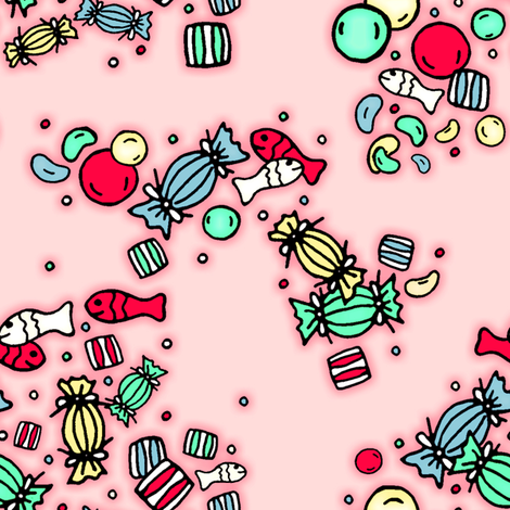 a handful of candy fabric by fantazya on Spoonflower - custom fabric