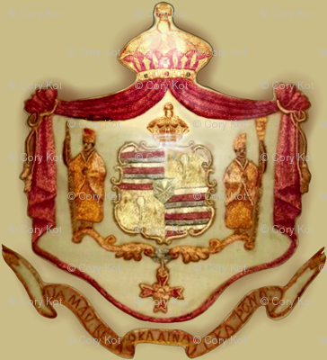 Hawaiian shield crest
