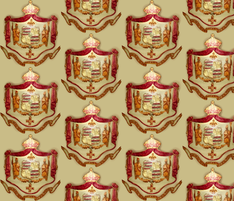 Hawaiian shield crest  fabric by waiomaotiki on Spoonflower - custom fabric