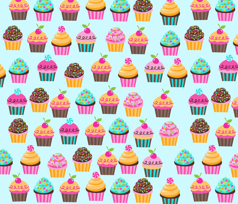 SUGAR RUSH cupcakes fabric by bzbdesigner on Spoonflower - custom fabric