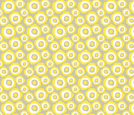Fried Circles Grey fabric by ravenous on Spoonflower - custom fabric