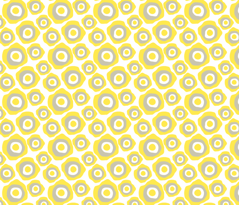 Fried Circles Yellow fabric by ravenous on Spoonflower - custom fabric