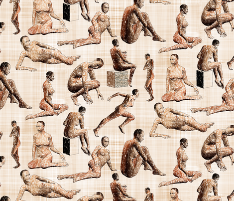 Female Anatomy Sketches fabric by bonnie_phantasm on Spoonflower - custom fabric