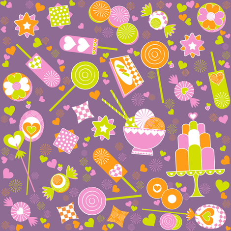 Sweets1 fabric by paula's_designs on Spoonflower - custom fabric