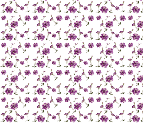 Purple-garden-flowers-pattern fabric by cutiecat on Spoonflower - custom fabric