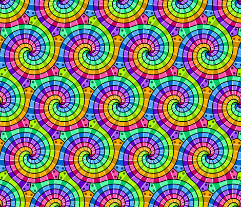 snakes on a plane 6 rainbow fabric by sef on Spoonflower - custom fabric