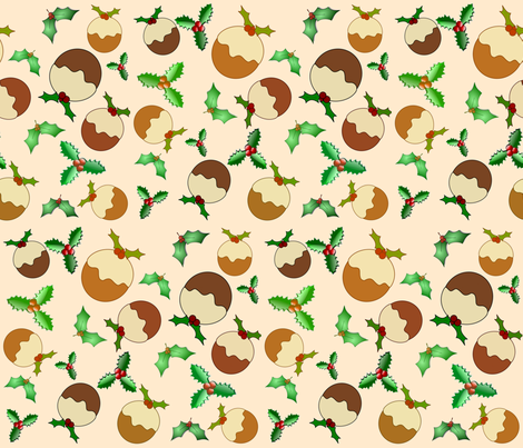 PLUM PUDDING fabric by bluevelvet on Spoonflower - custom fabric