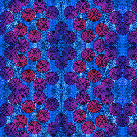 blue circles fabric by y-knot_designs on Spoonflower - custom fabric