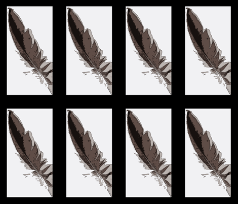 Portrait of a Feather fabric by anniedeb on Spoonflower - custom fabric