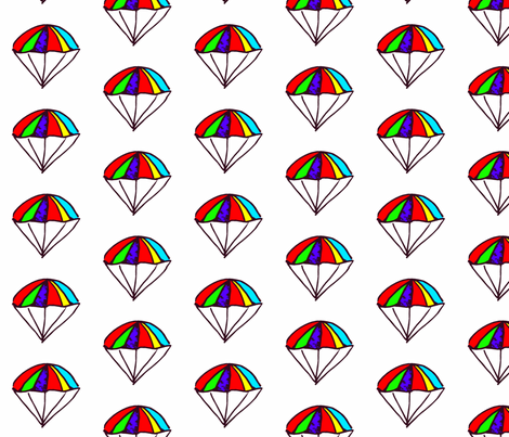 Rainbow Parachutes fabric by anniedeb on Spoonflower - custom fabric