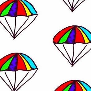 Rainbow Parachutes